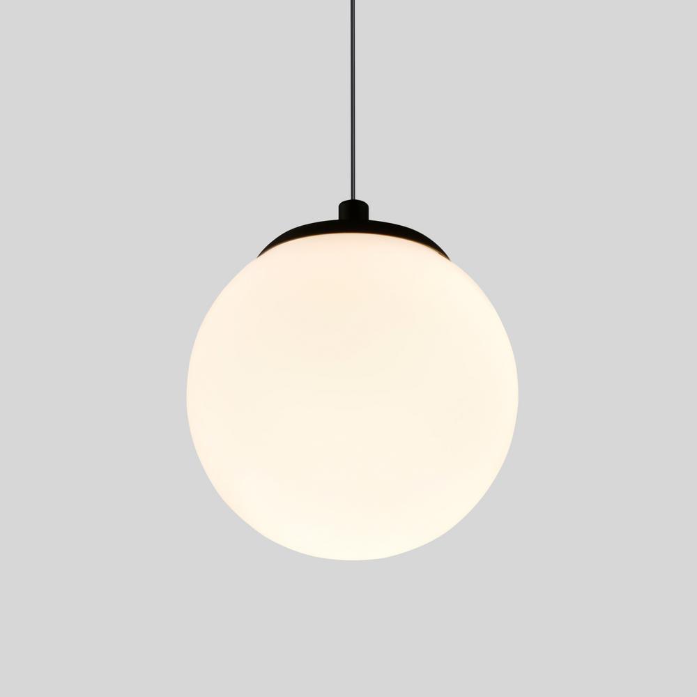 Capri 30-Watt Black Integrated LED Pendant