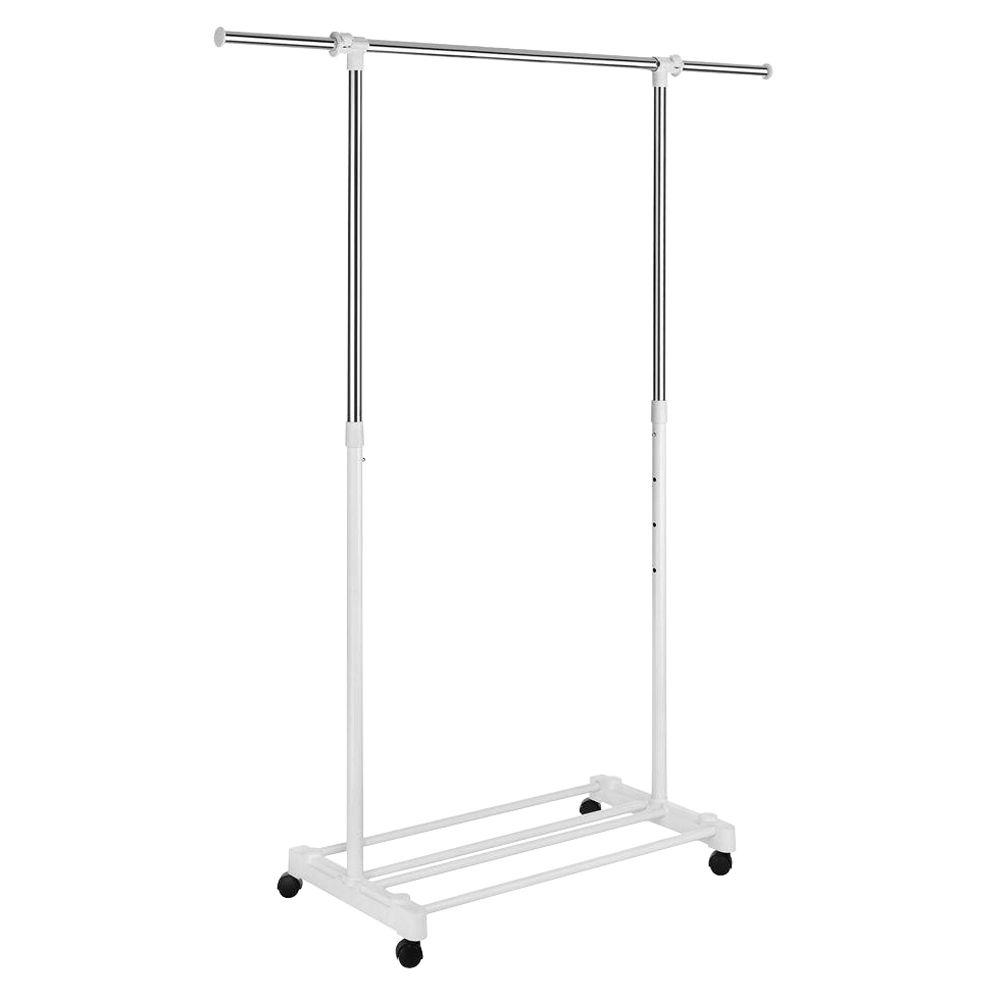 Whitmor Deluxe Adjustable Garment Rack with Wheels