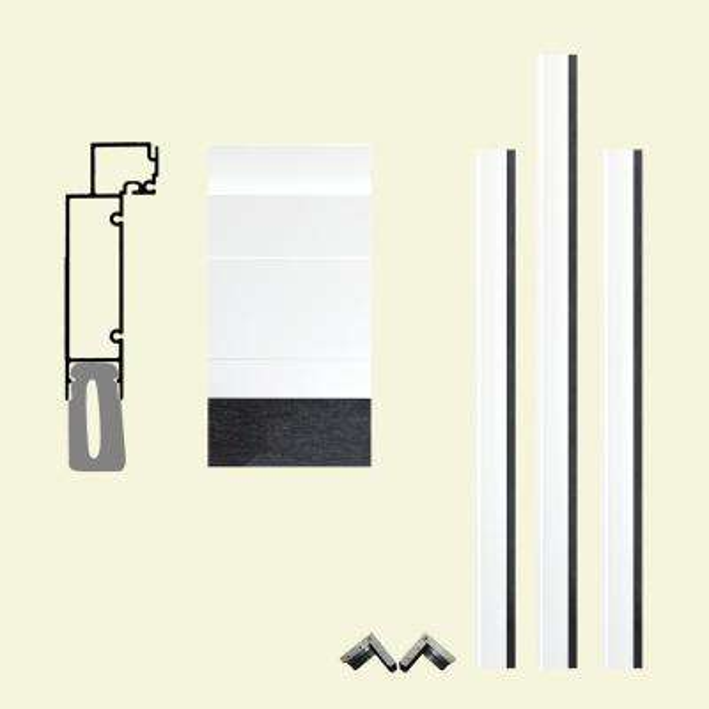 Pro Series 7-1/2 in. x 96 in. x 84 in. White Aluminum Clad Garage Door Frame with Crownline Casing