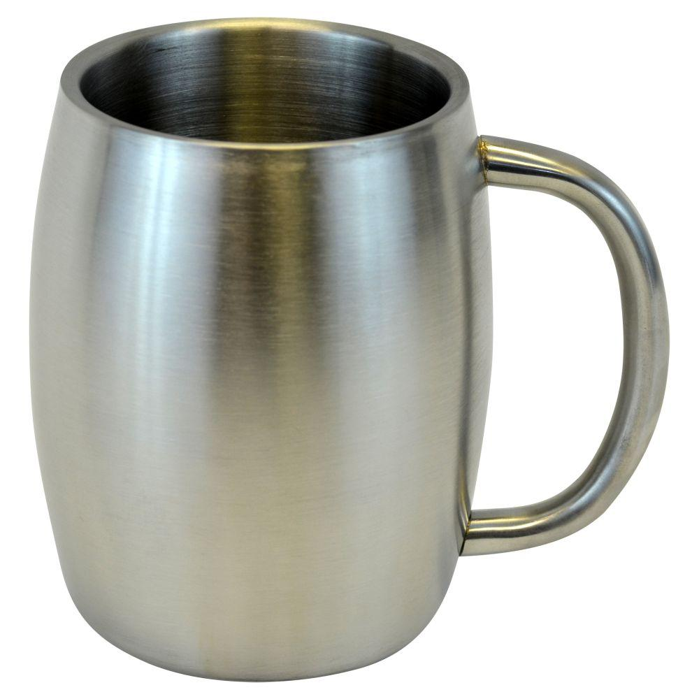 Stainless Smooth Double Wall Steel Beer/Coffee/Desk Mug
