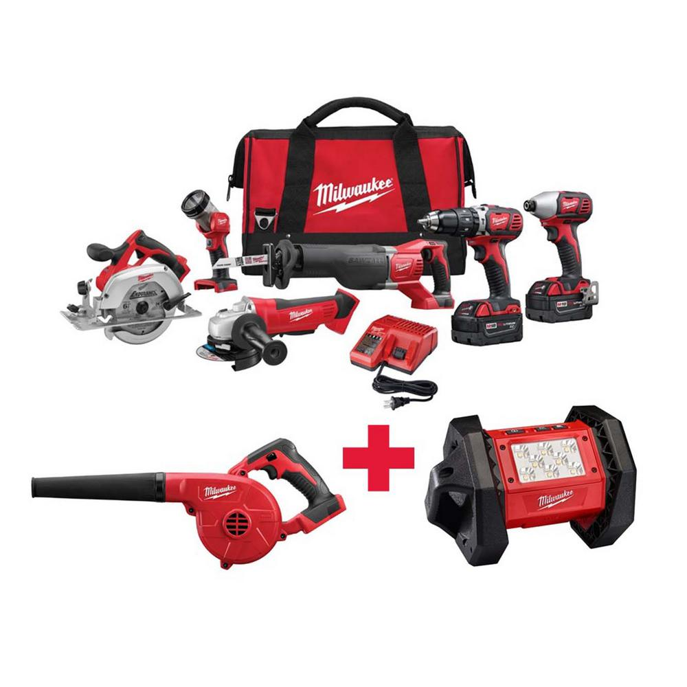 M18 18-Volt Lithium-Ion Cordless Combo Kit (6-Tool) with Free M18 Blower