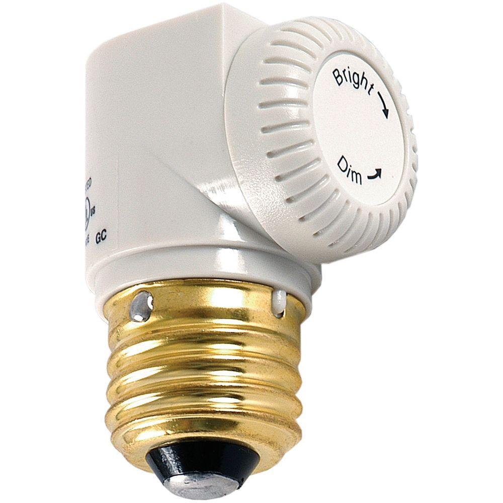GE Indoor Light Socket Dimmer - White