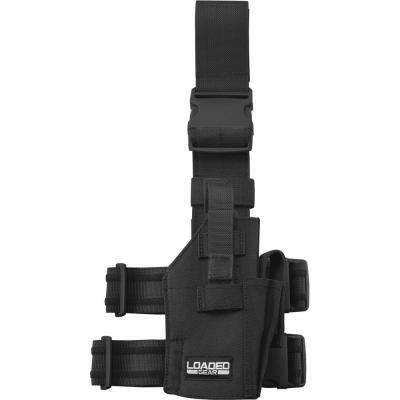 Loaded Gear 4 in. CX-500 Drop Leg Handgun Holder, Black