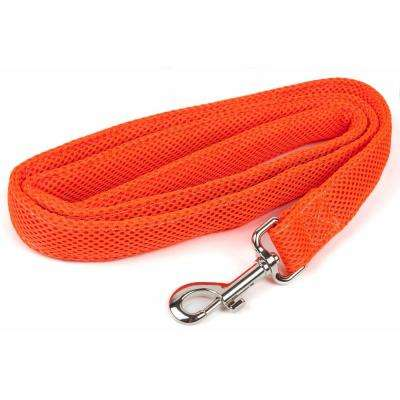 Aero Mesh Comfortable and Breathable Adjustable Mesh Dog Leash in Orange