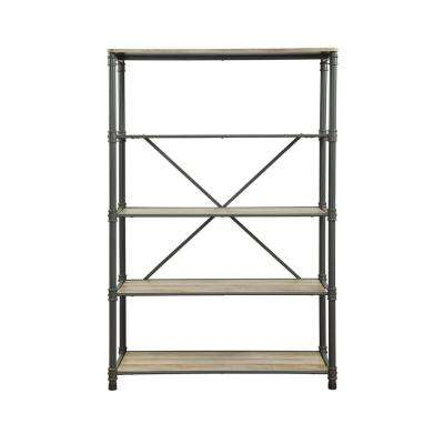 Itzel Sandy Gray and Oak Bookshelf