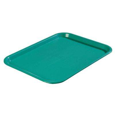 10.75 in. x 13.87 in. Polypropylene Cafeteria/Food Court Serving Tray in Teal (Case of 24)