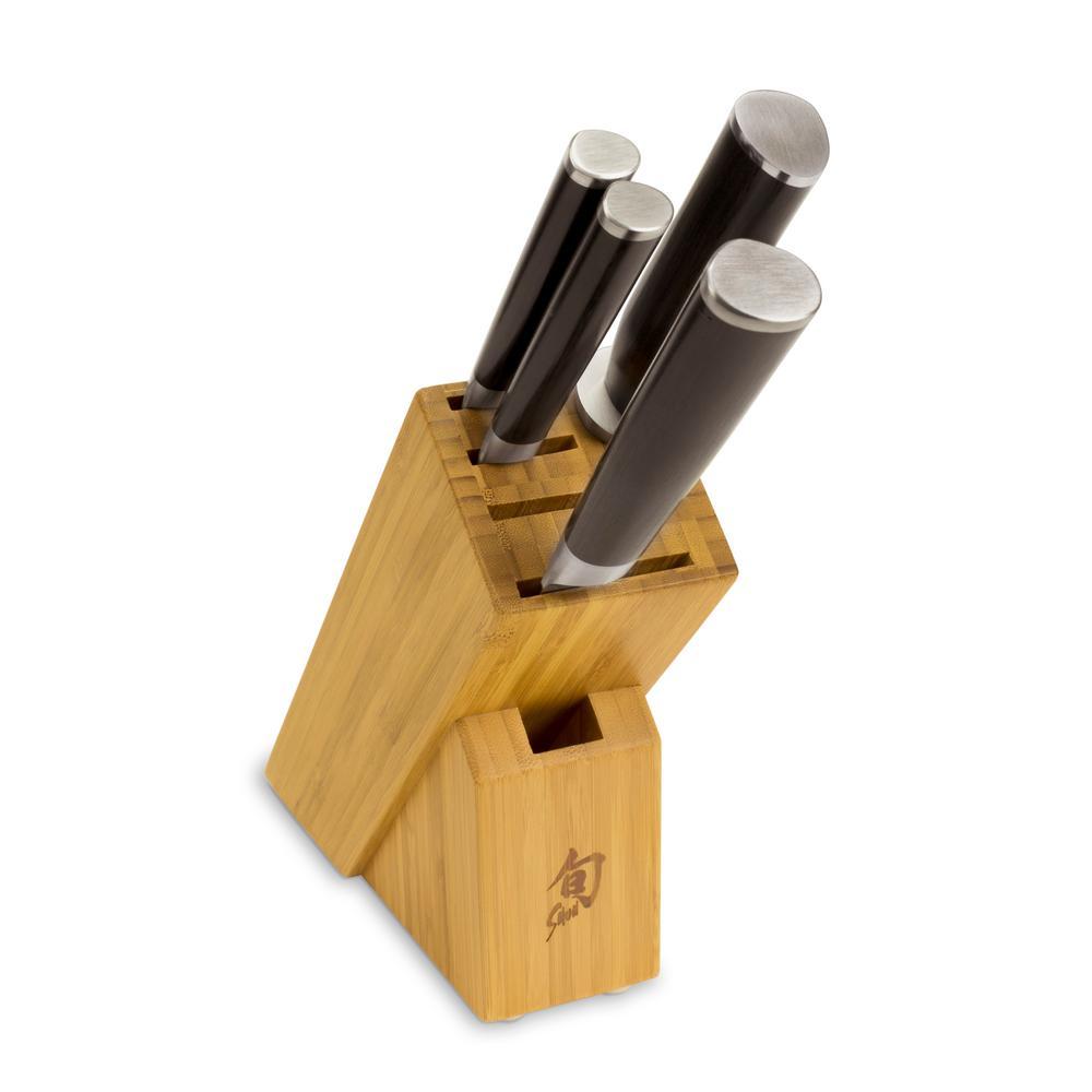 Shun Cutlery Classic 5-Piece Starter Block Set