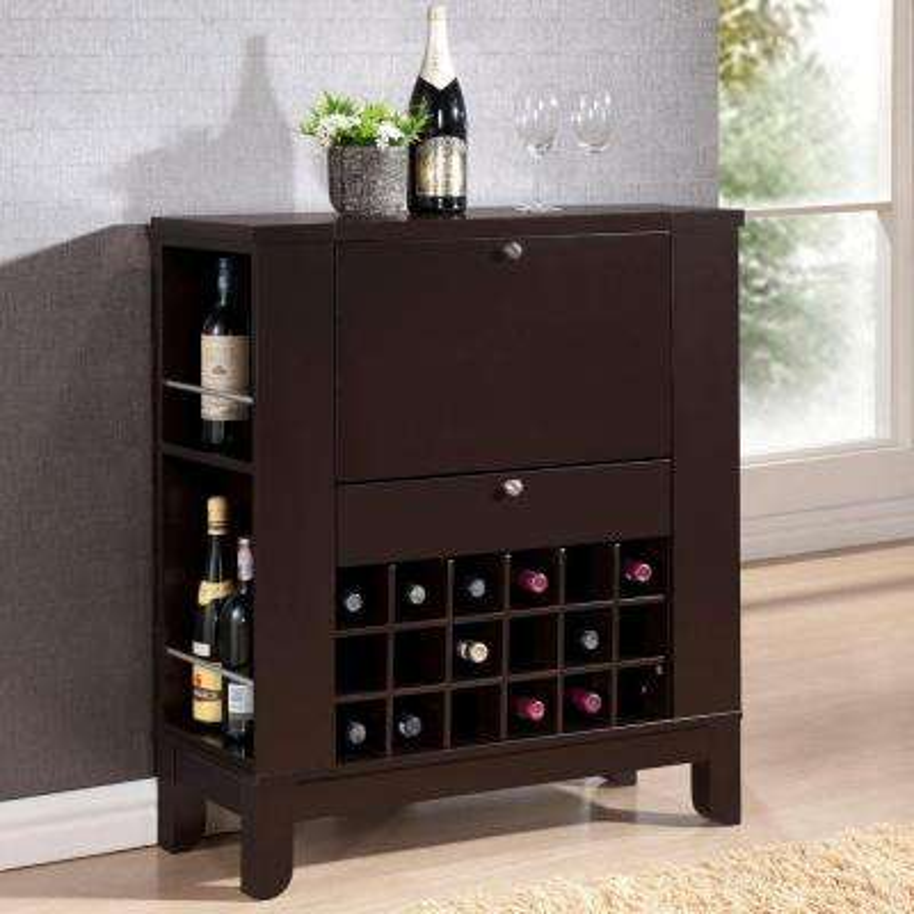 Dark Brown Bar Cabinet