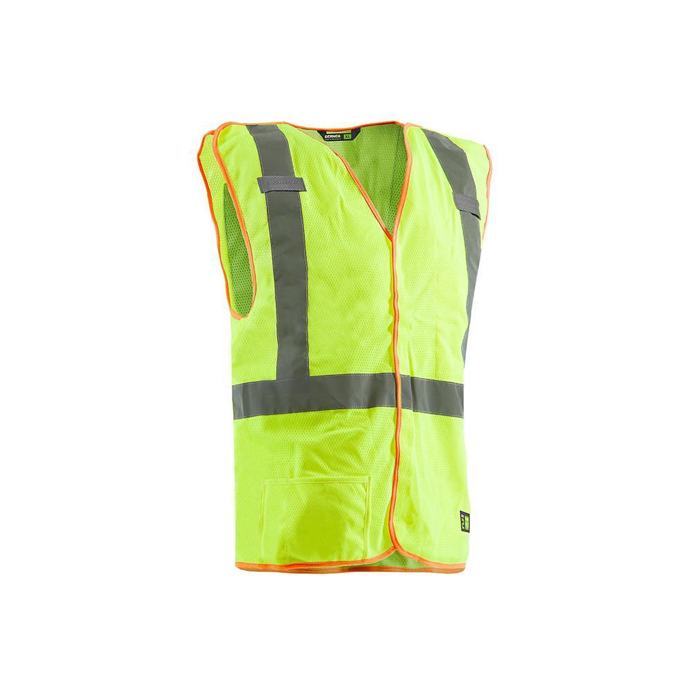 Men's Medium Yellow Polyester Mesh Hi-Visibility Easy-Off Vest