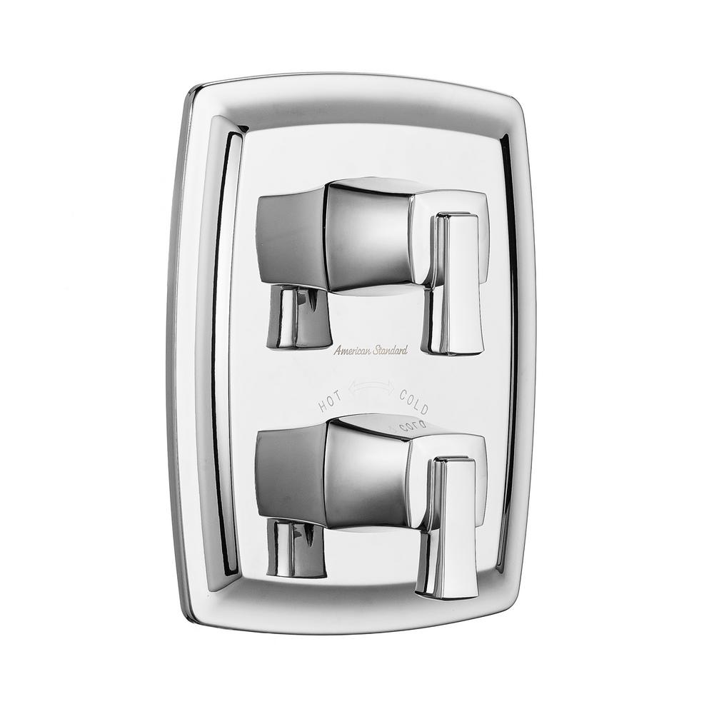 American Standard Townsend 2-Handle Thermostatic Valve Trim Kit in Polished Chrome (Valve Sold Separately)