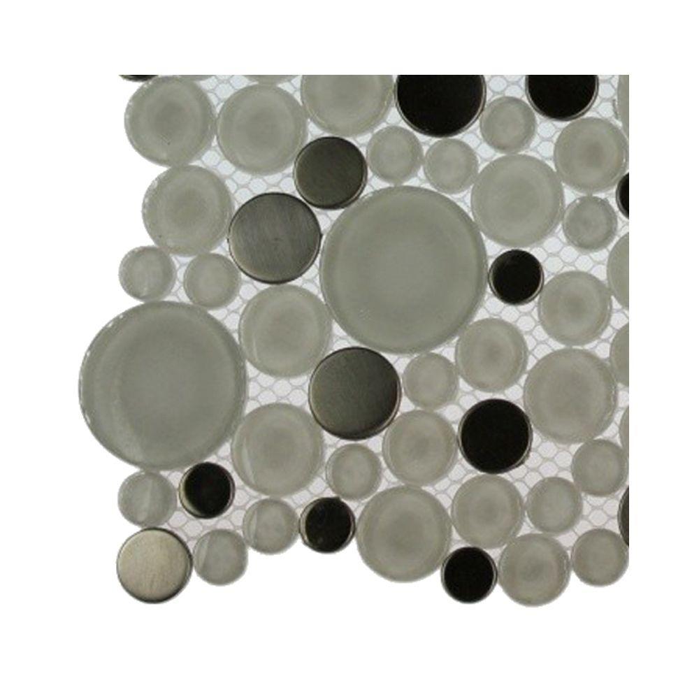 Contempo Eskimo Pie Circles Glass Tile - 3 in. x 6
