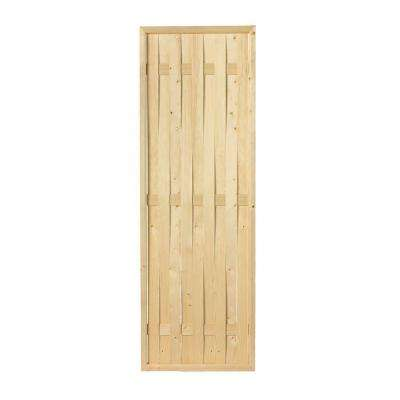 2-1/2 in. x 24 in. x 6 ft. Wood Framed Basket Weave Screen