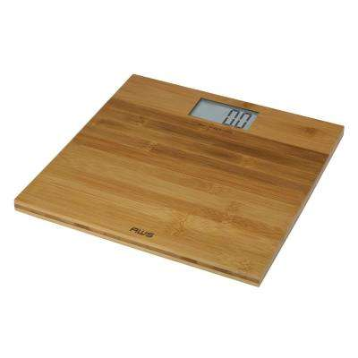 Digital Bathroom Scale in Bamboo