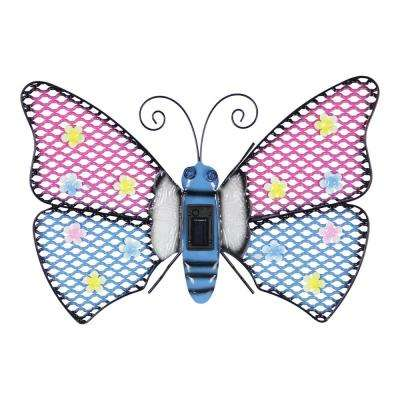 Solar Butterfly 14 in. Wall Art