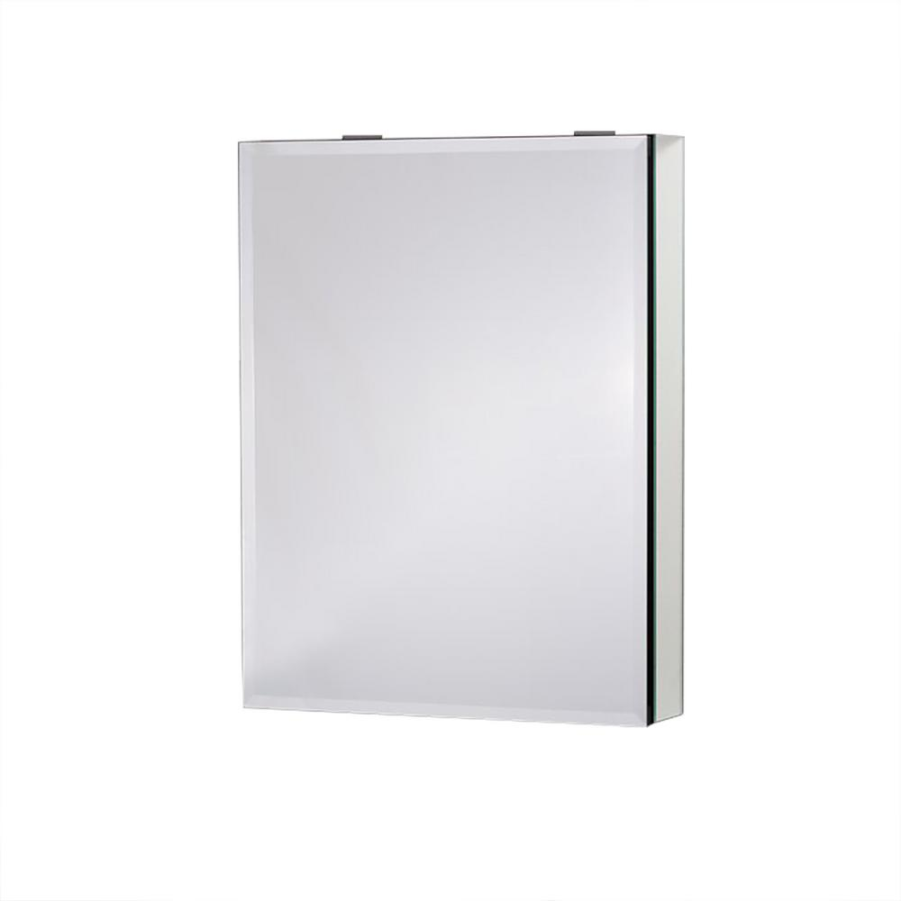 Boyel Living 20 in. x 26 in. Recessed or Surface Mount Medicine Cabinet in Beveled Mirror