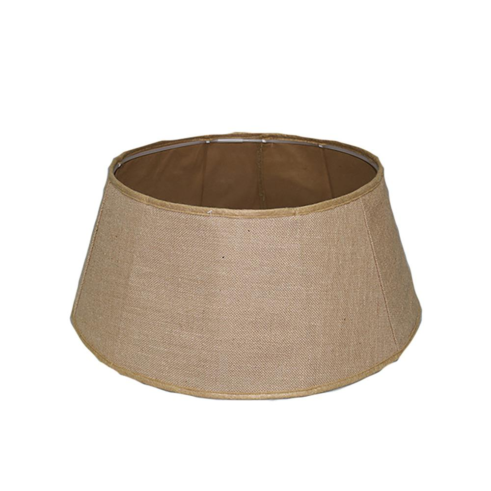 11 in. x 26 in. Burlap Tree Stand Collar in Tan