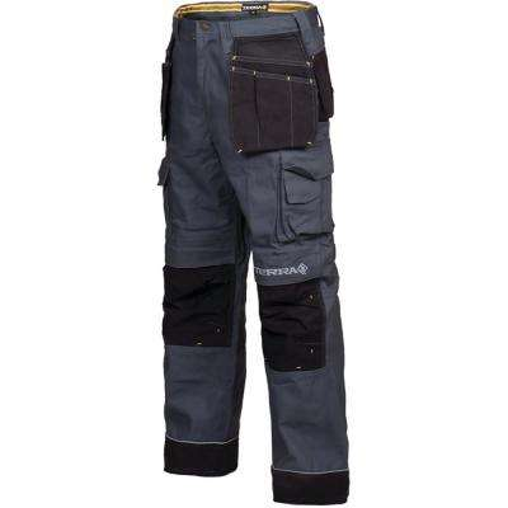Men's 32x32 Grey Brick Heavy Duty Multi Pocket Canvas Cargo Work Pant