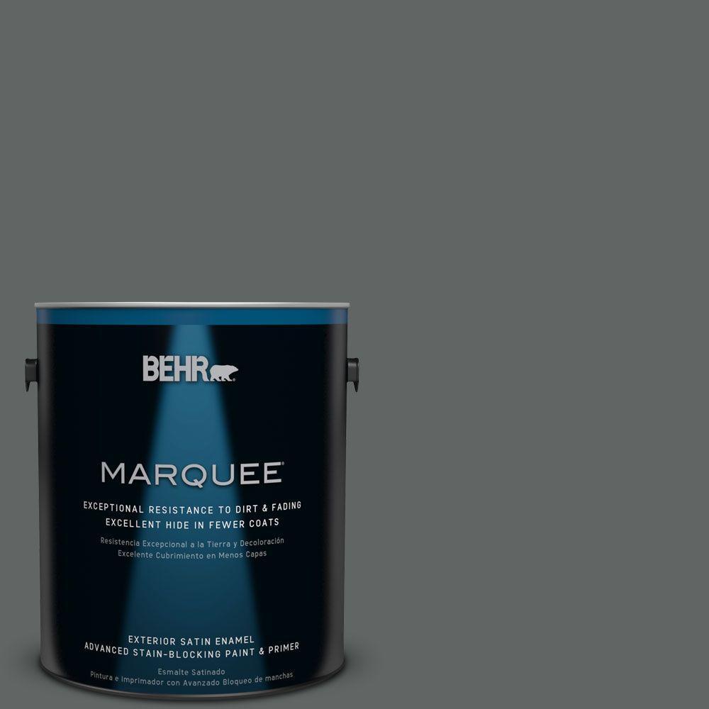 1-gal. #BXC-41 Charcoal Satin Enamel Exterior Paint
