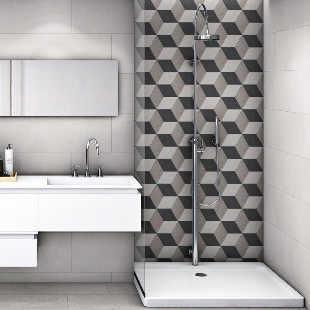 - Merola Tile Traffic Hex 3D Grey 8-5/8 In. X 9-7/8 In. Porcelain