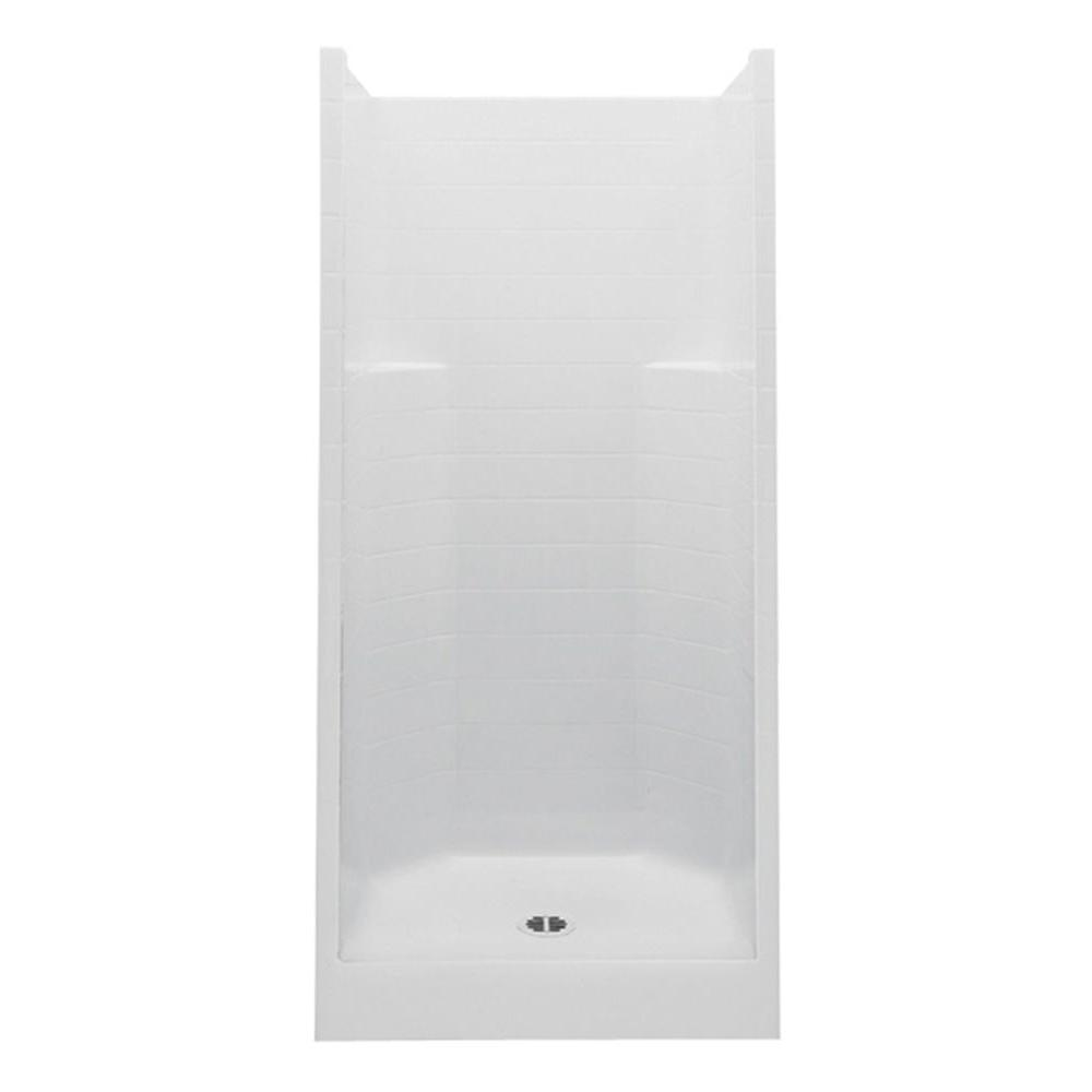 Aquatic 36 In. X 36 In. X 72 In. Gelcoat Shower Stall In White 1363CPC WH    The Home Depot