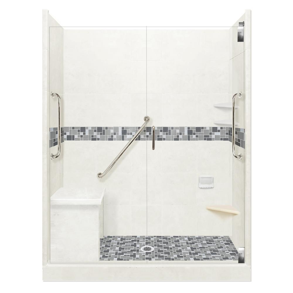 American Bath Factory Newport Freedom Grand Hinged 42 in. x 60 in ...