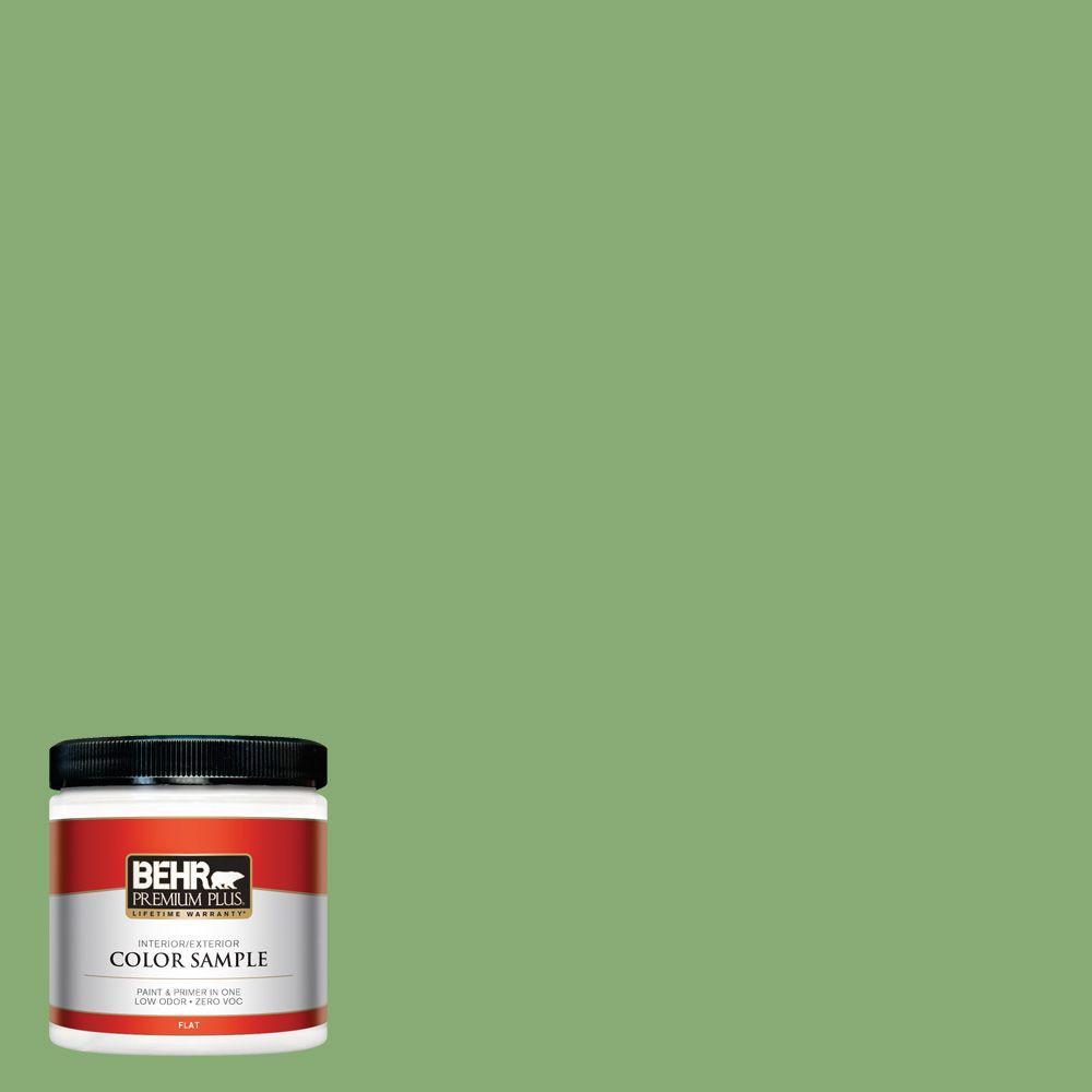 BEHR Premium Plus 8 oz. #440D-5 Pesto Interior/Exterior Paint Sample