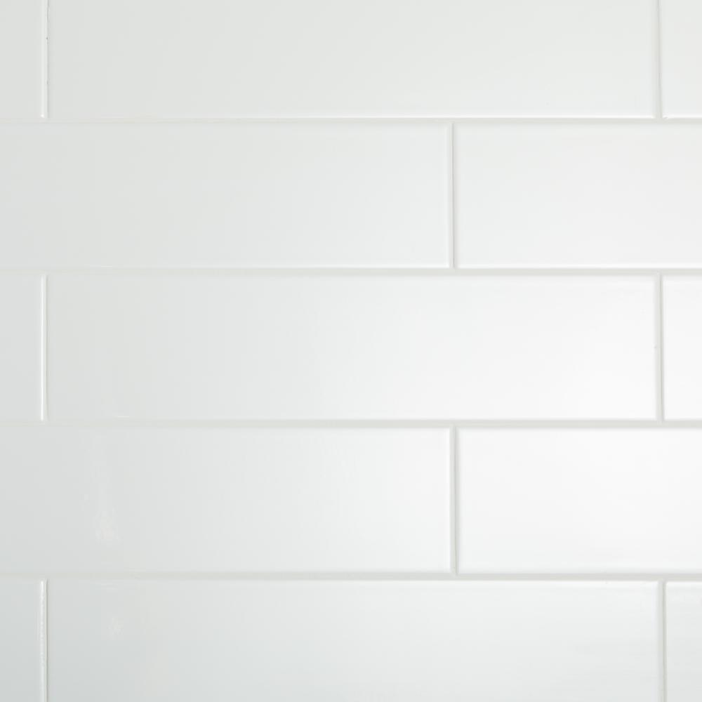 Restore Bright White 4 in. x 16 in. Ceramic Wall Tile (13.20 sq. ft. / Case)