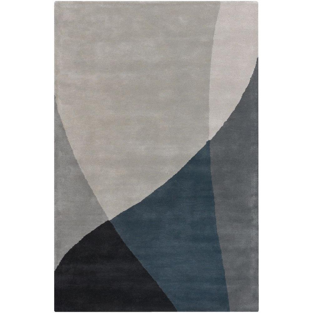 Bense Grey/Blue/Black 8 ft. x 11 ft. Indoor Area Rug