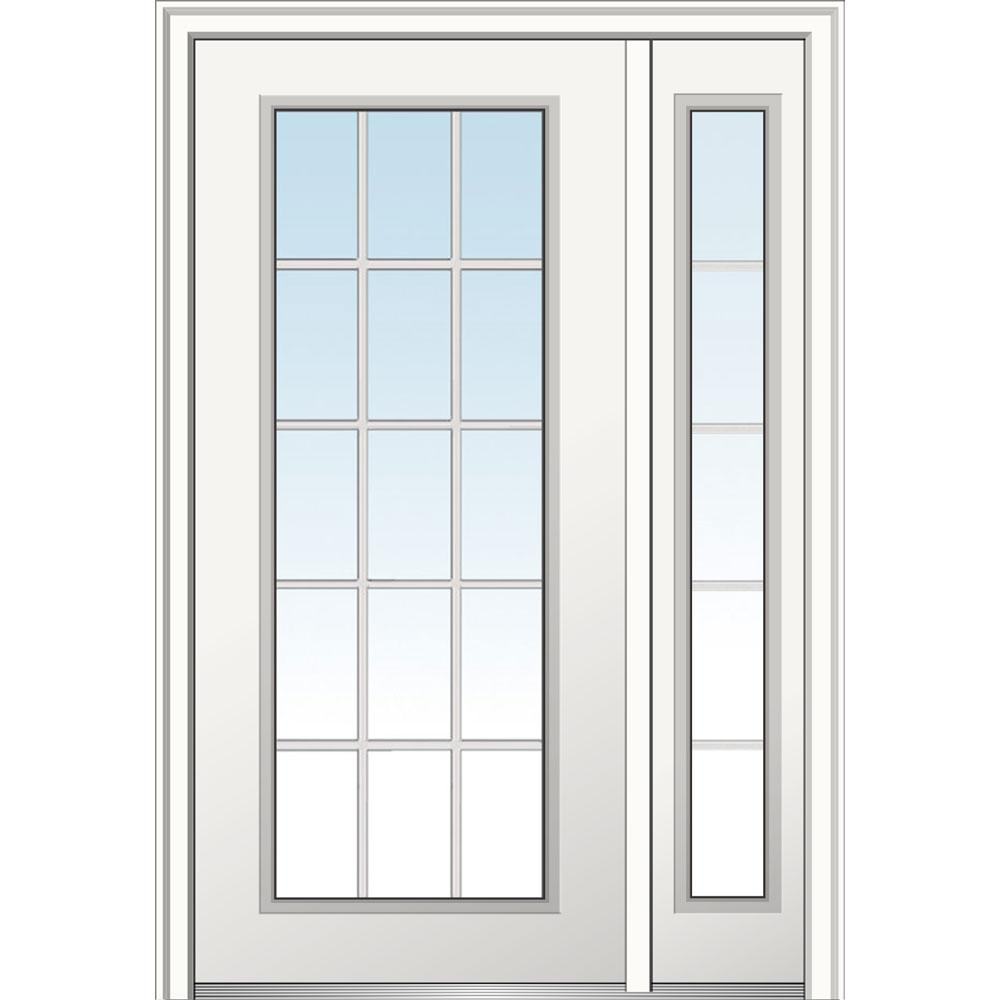 Mmi door 48 in x 80 in clear glass 15 lite right hand for 18 x 48 window