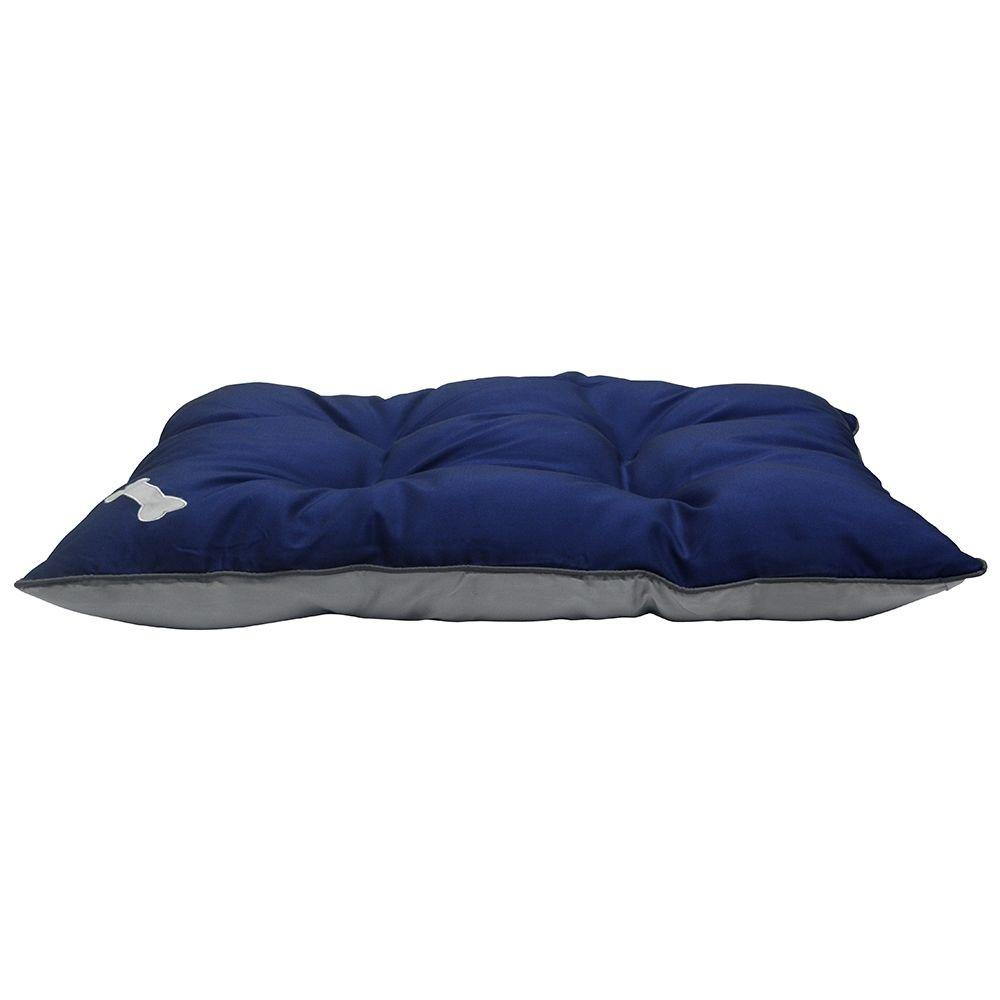 Large Blue Tufted Weather Resistant Bed