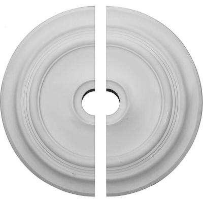 24-3/8 in. O.D. x 3-1/2 in. I.D. x 1-1/2 in. P Traditional Ceiling Medallion (2-Piece)