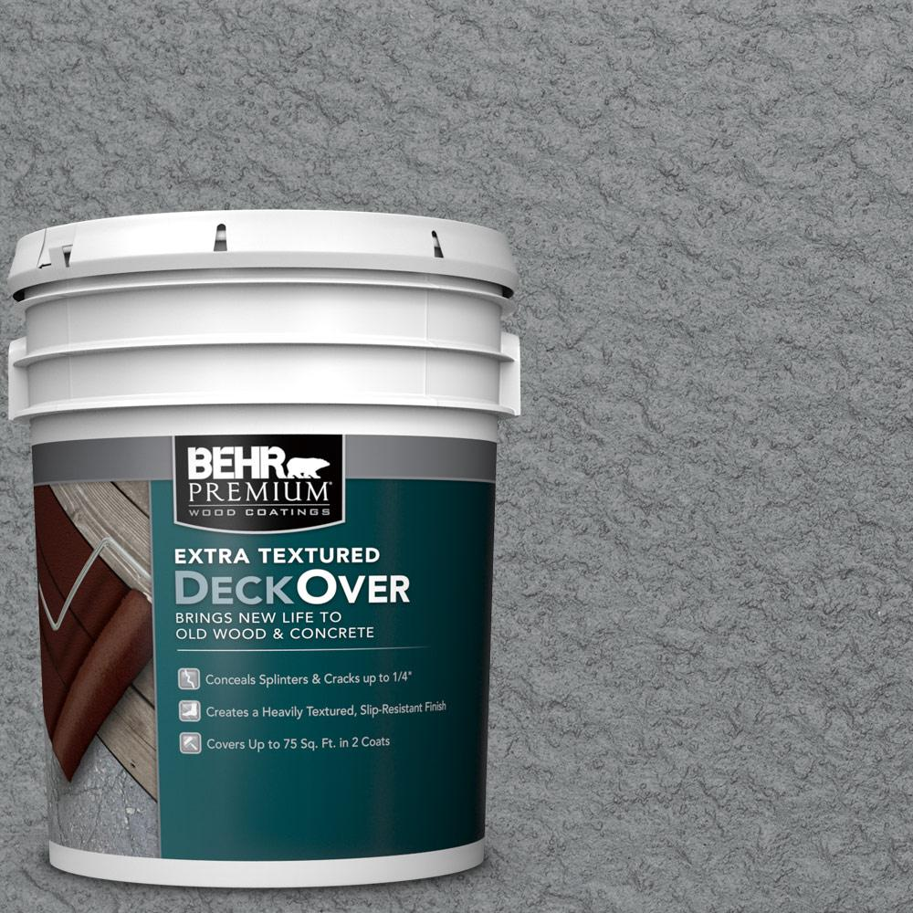 BEHR Premium Extra Textured DeckOver 5 gal PFC 63 Slate Gray Extra