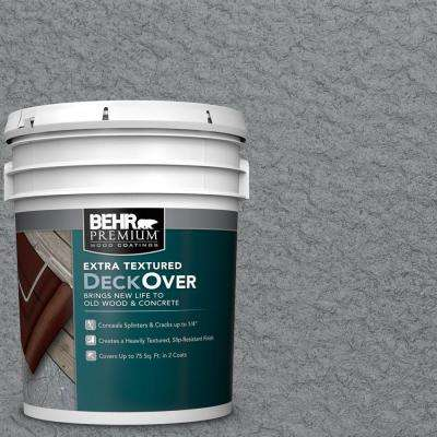 5 gal. #PFC-63 Slate Gray Extra Textured Solid Color Exterior Wood and Concrete Coating