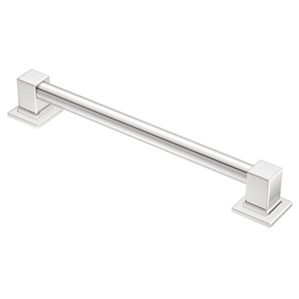 MOEN 90 Degree 18 In. X 1.25 In. Concealed Screw Grab Bar In Chrome