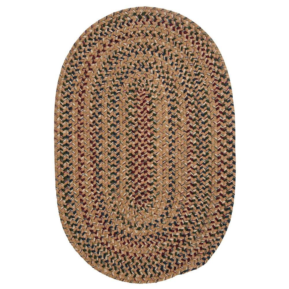 Winchester Evergold 5 ft. x 7 ft. Oval Braided Area Rug