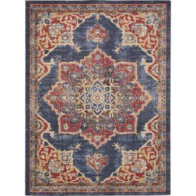 Arcadia Dark Blue 9 ft. x 12 ft. Area Rug