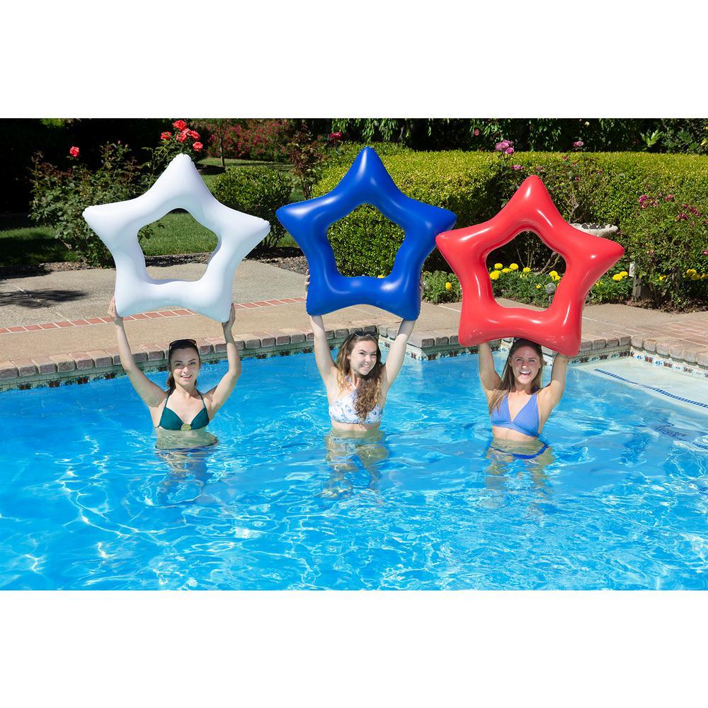 36 in. American Stars Swimming Pool Float Tube (3-Pack)