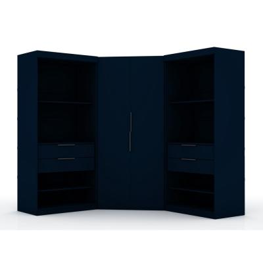 Ramsey 2.0 Tatiana Midnight Blue Semi Open 3-Sectional Corner Closet (Set of 3)