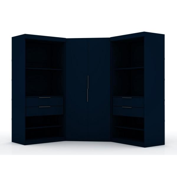 Luxor Ramsey 2.0 Tatiana Midnight Blue Semi Open 3-Sectional Corner Closet