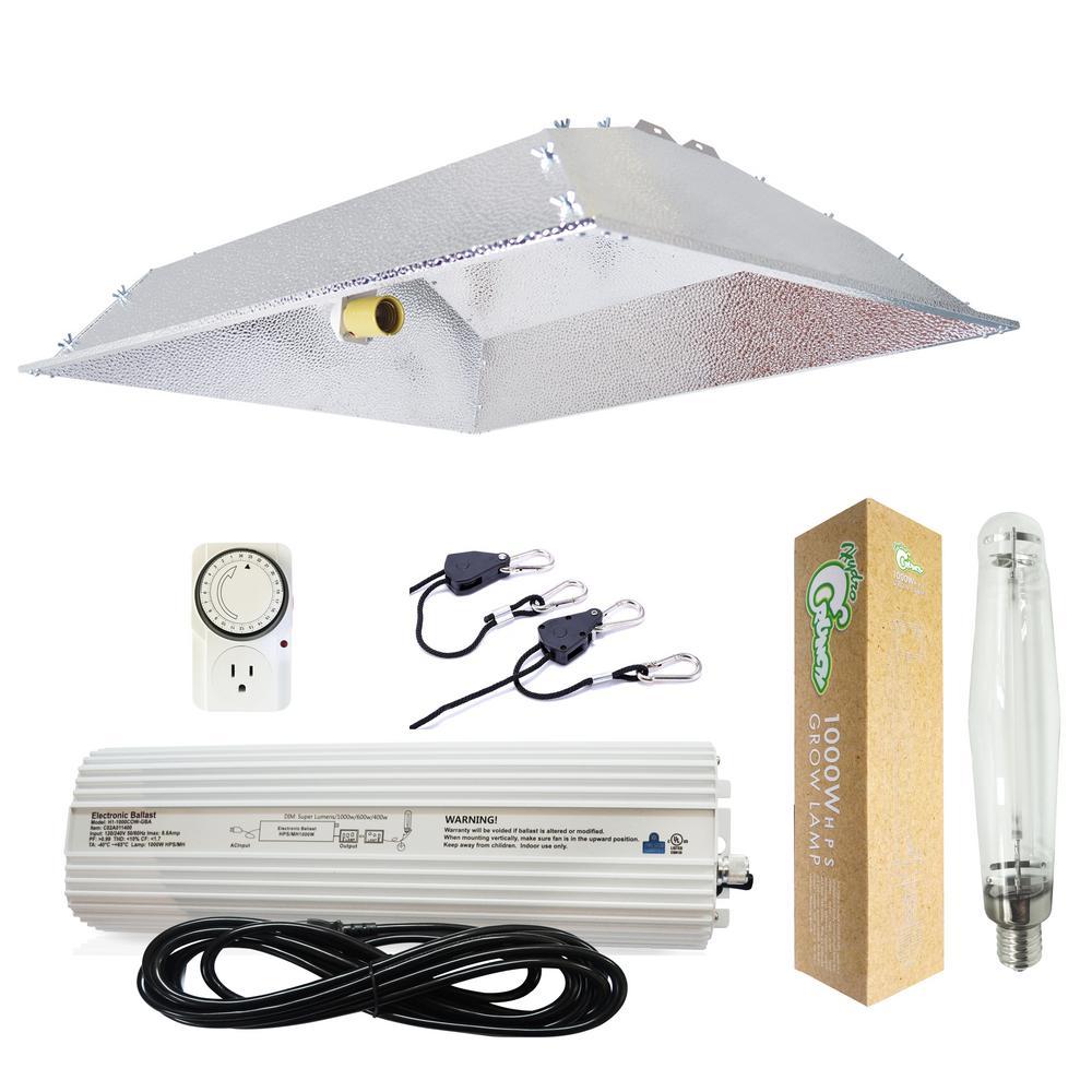 1000-Watt HPS Grow Light System with XXL Open Hood Grow Light Reflector