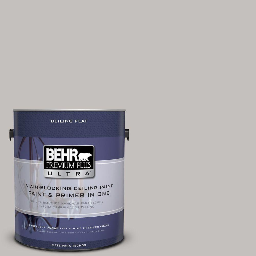 BEHR Premium Plus Ultra 1-gal. #PPU18-10 Ceiling Tinted to Natural Gray Interior Paint