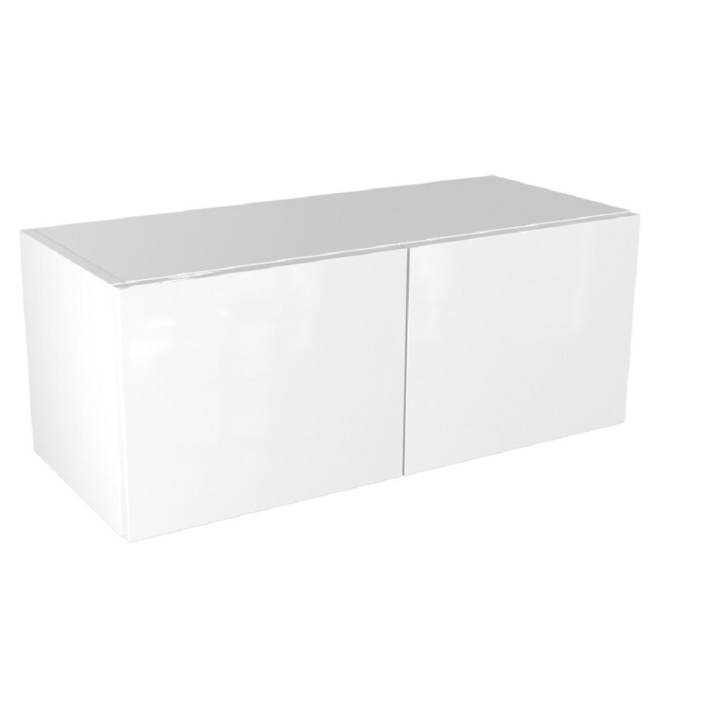 Cambridge Ready to Assemble 30 in. x 18 in. x 12 in. Bridge Wall Cabinet in White Gloss