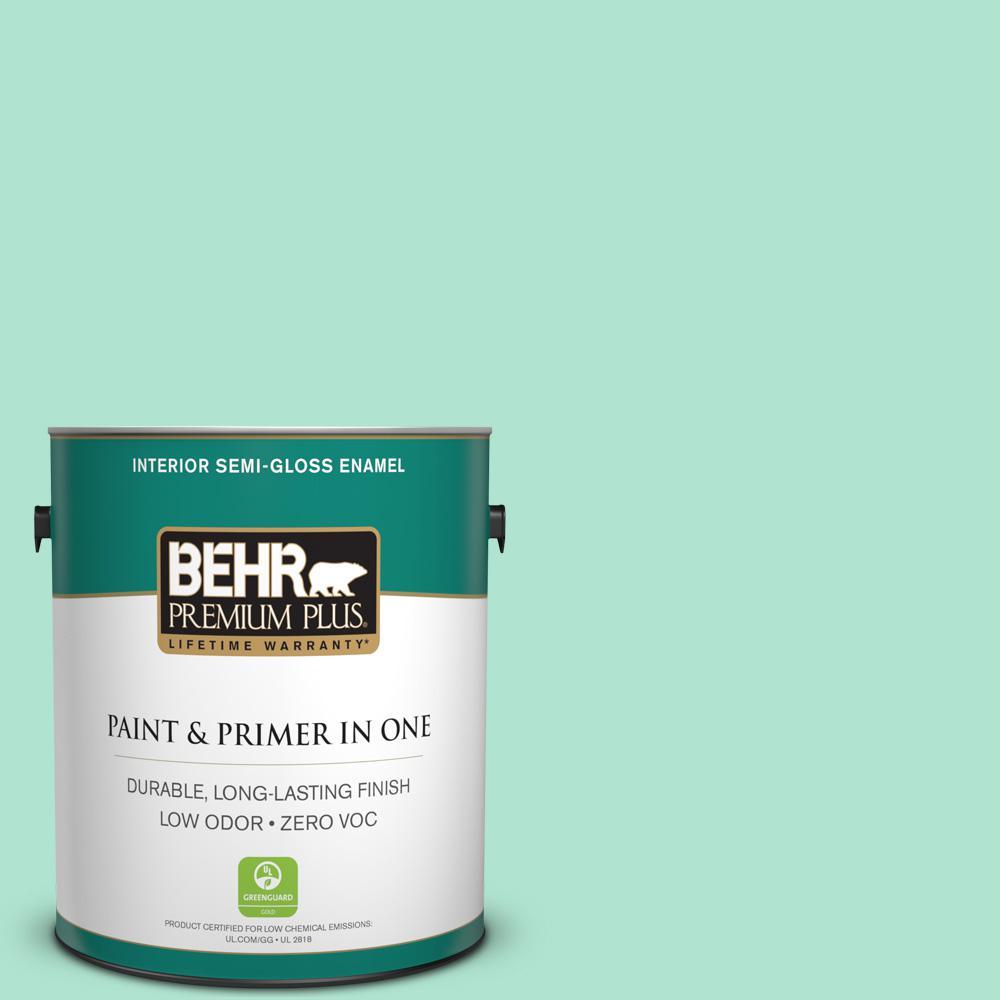 BEHR Premium Plus 1-gal. #P420-2 Crystal Rapids Semi-Gloss Enamel Interior Paint