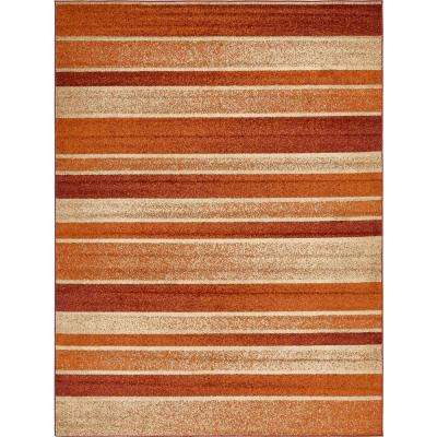 Autumn Rust Red 9 ft. x 12 ft. Area Rug