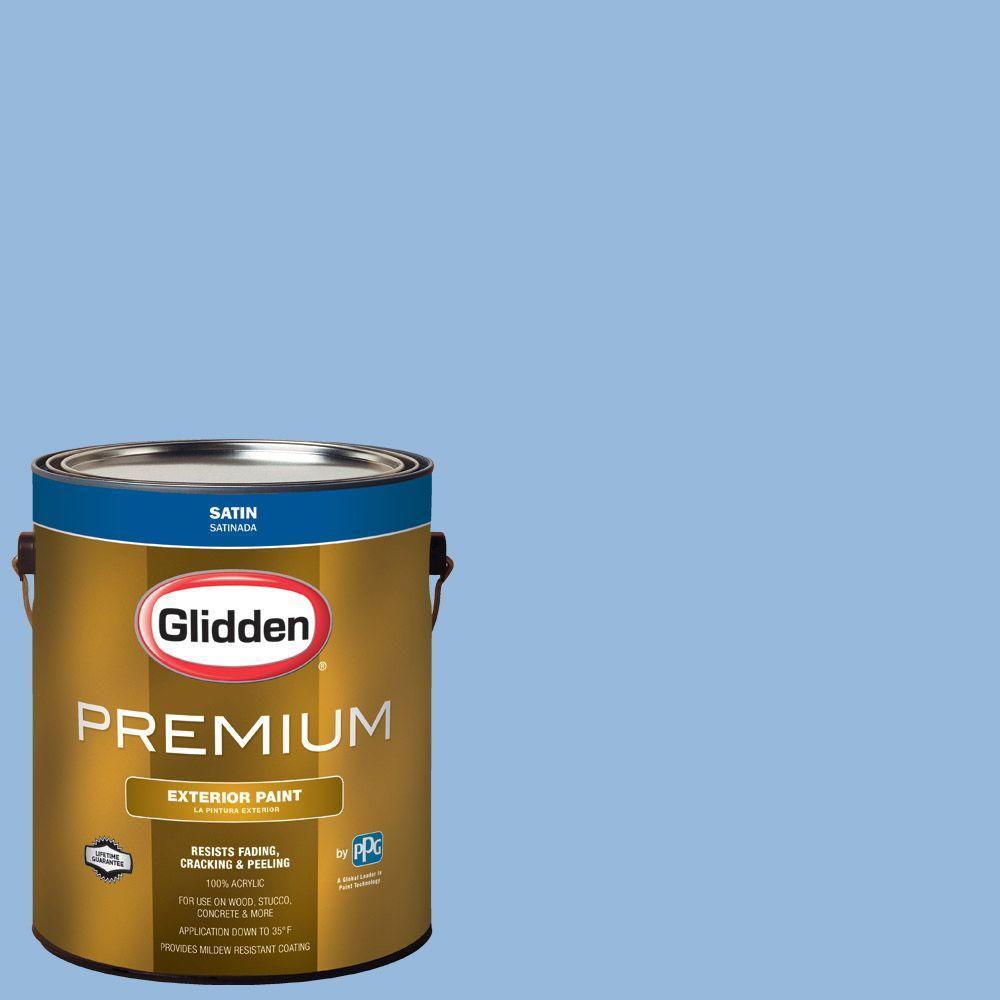Glidden Premium 1 Gal Hdgv15 French Country Blue Satin Latex