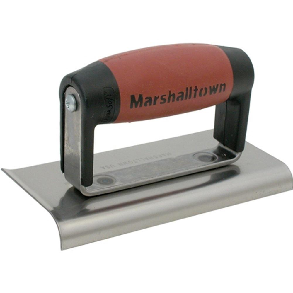 Marshalltown Trowel 6 in. x 3 in. Curved/Straight End Ste...