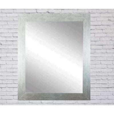 Current Trend 32 in. x 35 in. x 5 in. Organic Silver Vanity Wall Framed Mirror