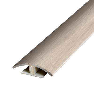 Aged Timber Beige and Grey .37 in. Thick x 1.75 in. Wide x 78.7 in. Length Vinyl 2-in-1 Molding