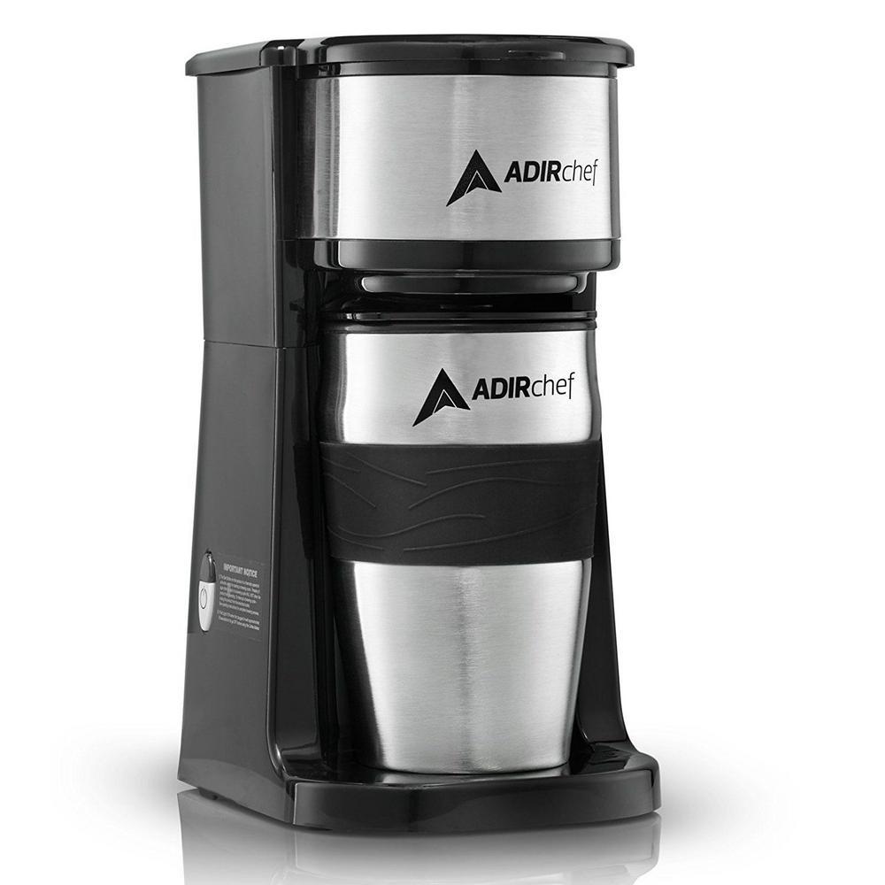 AdirChef Grab'n Go Single Cup Serve Coffee Make in Black