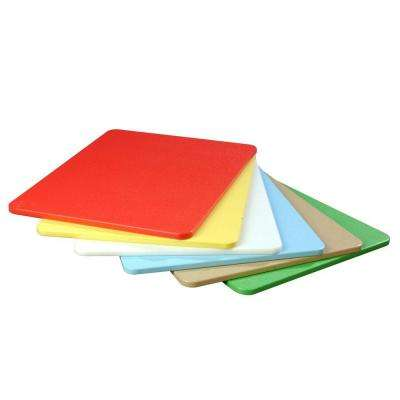 6-Piece Polyethylene Cutting Board Assorted Set